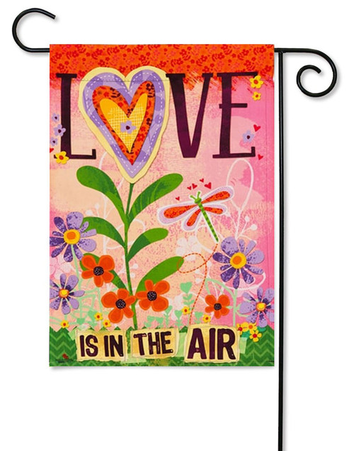 "Love is in the Air Valentine Garden Flag - 12.5 ' x 18"" - Evergreen - 2 Sided Message"