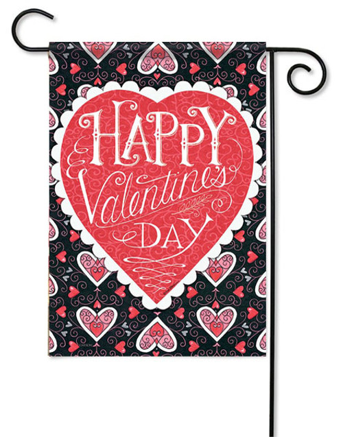 "Happy Valentine's Day Garden Flag - 13"" x 18"" - Flag Trends - 2 Sided Message"