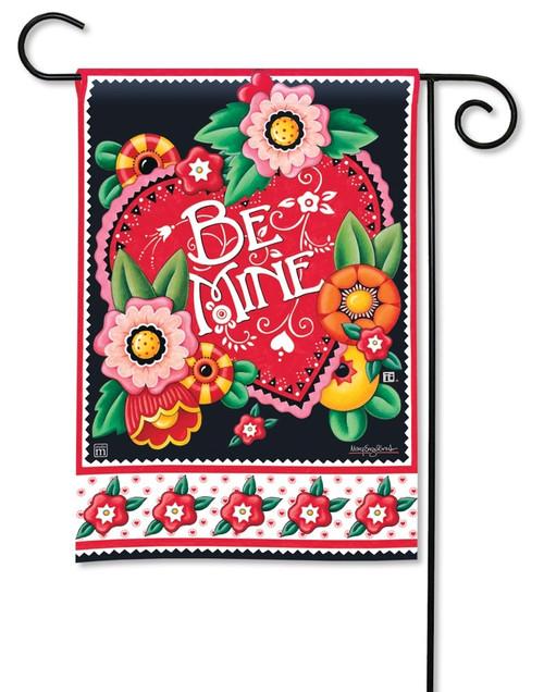 """Valentine Be Mine Valentine Garden Flag - 12.5"""" x 18"""" - BreezeArt"""