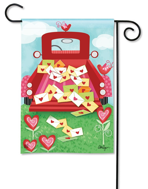 "Special Delivery Valentine Garden Flag - 12.5"" x 18"" - BreezeArt"