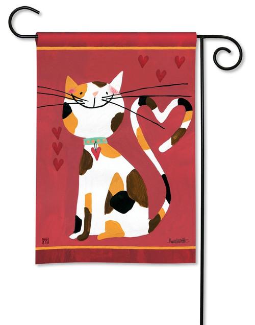 "Sweet Kitty Valentine Garden Flag - 12.5"" x 18"" - BreezeArt"