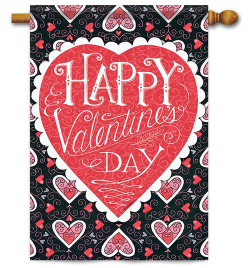 Happy Valentine's Day House Flag