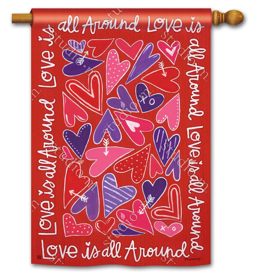 "Mix It Up Valentine House Flag - 28"" x 40"" - BreezeArt"