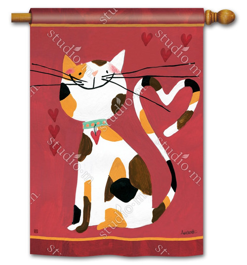 "Sweet Kitty Valentine House Flag - 28"" x 40"" - BreezeArt"
