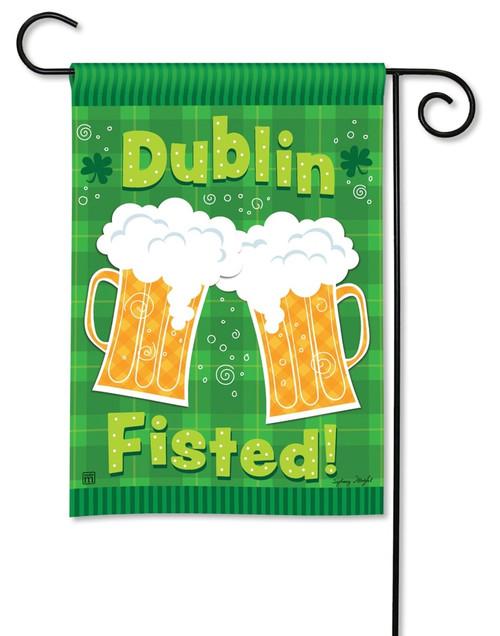 "Dublin Fisted St. Pat's Garden Flag - 12.5"" x 18"" - BreezeArt"