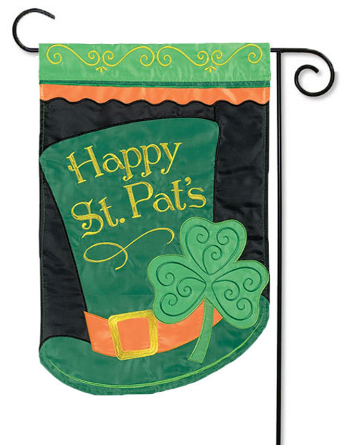 "Top Hat Applique Garden Flag - 13"" x 18"" - Flag Trends - 2 Sided Message"