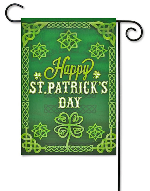"St. Patrick's Celtic Decorative Garden Flag - 12.5"" x 18"" - Evergreen"