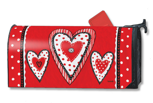Button Valentine Magnetic Mailbox Cover