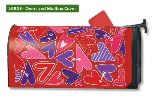 Mix It Up Valentine LARGE Magnetic Mailbox Cover