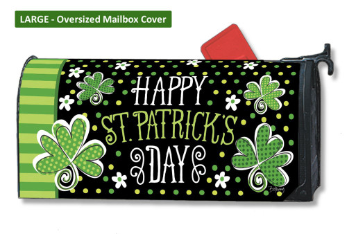 St. Pat's Shamrocks LARGE Magnetic Mailbox Cover