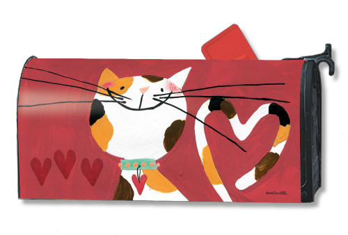 Sweet Kitty Valentine Magnetic Mailbox Cover