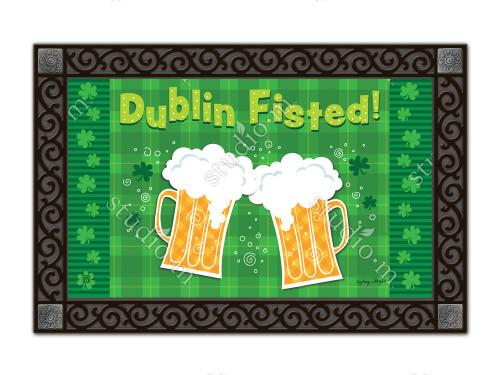 "Dublin Fisted St. Pat's MatMates Doormat - 18"" x 30"""