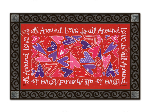 "Mix It Up Valentine MatMates Doormat - 18"" x 30"""
