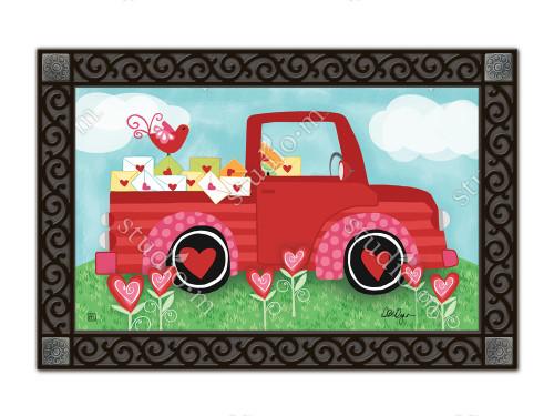 "Special Delivery Valentine MatMates Doormat - 18"" x 30"""