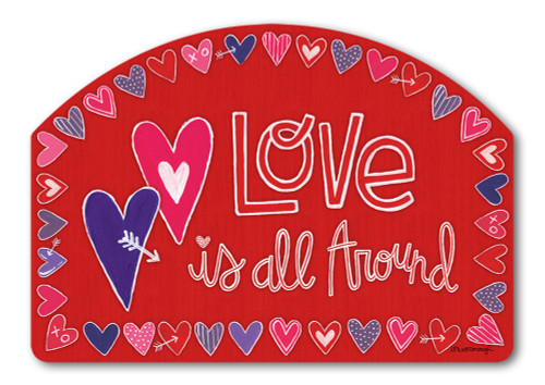 "Mix It Up Valentine Yard DeSign Yard Sign - 14"" x 10"""