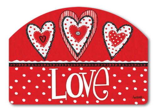 "Button Valentine Yard DeSign Yard Sign - 14"" x 10"""