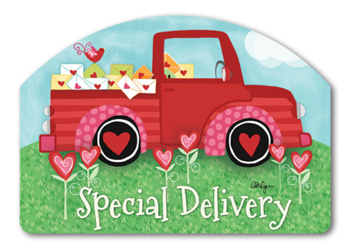 "Special Delivery Valentine Yard DeSign Yard Sign - 14"" x 10"""