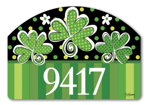 "St. Pat's Shamrocks Yard DeSign Address Sign - 14"" x 10"""