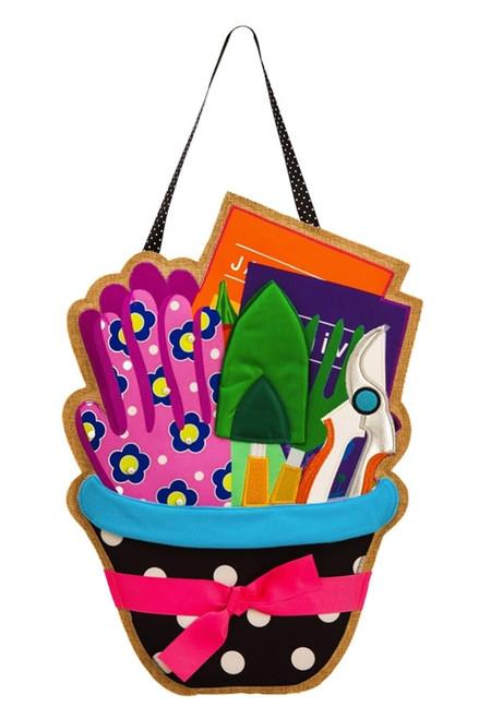 ardener's Gift Basket Burlap Door Decor