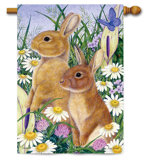 "All Ears Easter House Flag - 28"" x 40"""