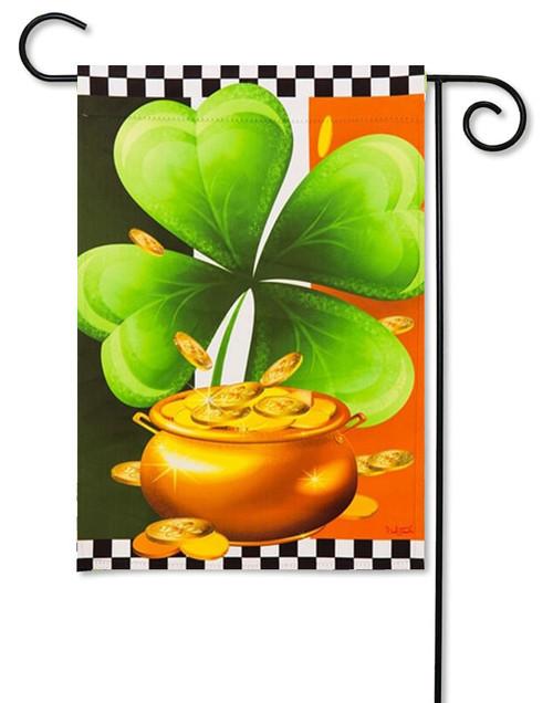 "Shamrock St. Patrick's Day Garden Flag - 12.5"" x 18"""