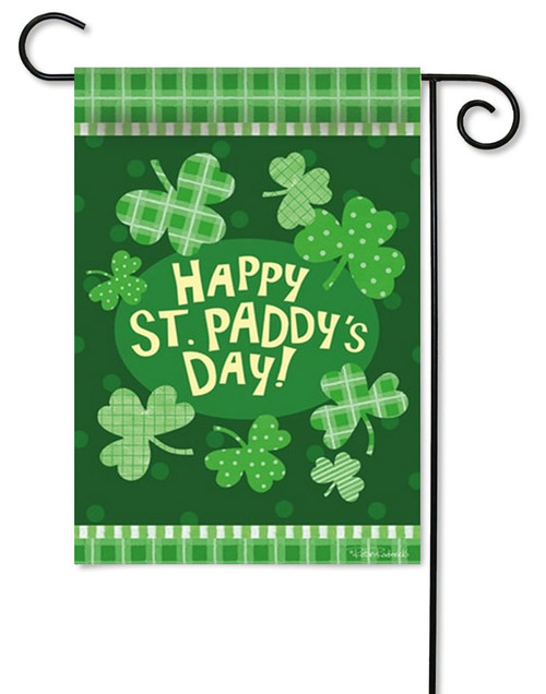"Paddy's Party Decorative Garden Flag - 12.5"" x 18"" - 2 Sided Message"