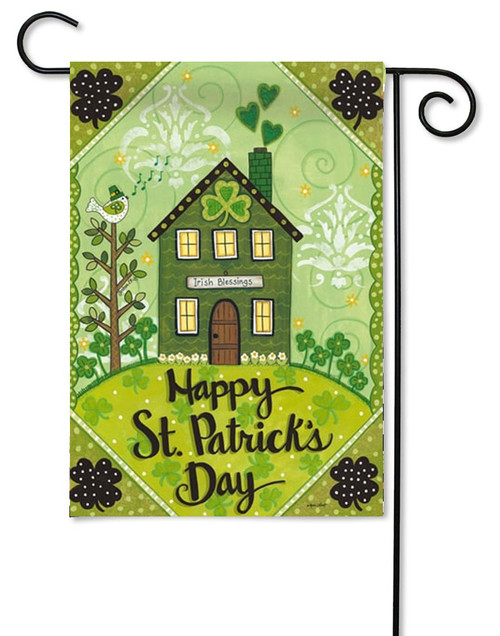 "Irish Blessings St. Patrick's Day Garden - 12.5"" x 18"" - 2 Sided Message"