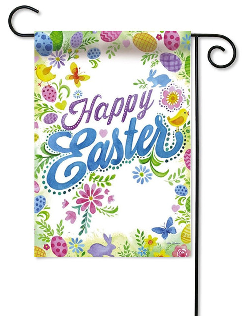 "Happy Easter Decorative Garden Flag - 12.5"" x 18"" -2 Sided Message"