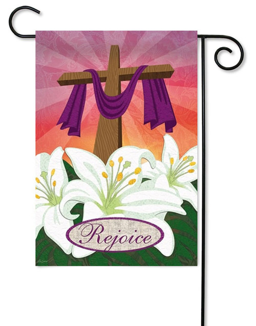 Rejoice Decorative Easter Garden Flag