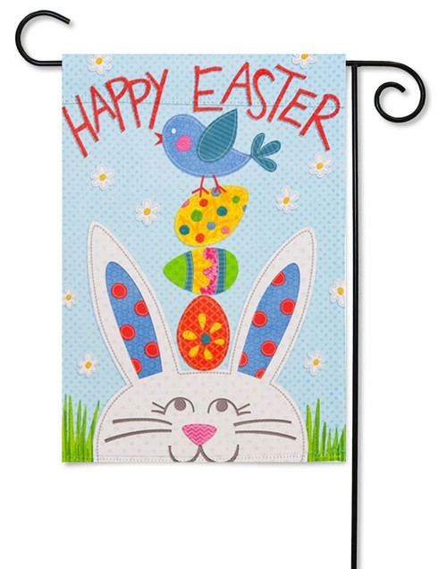 "Happy Easter Bunny Decorative Garden Flag - 12.5"" x 18"" - 2 Sided Message"