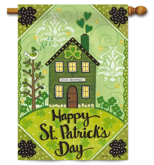 "Irish Blessings St. Patrick's Day House Flag - 29"" x 43"" - 2 Sided Message"