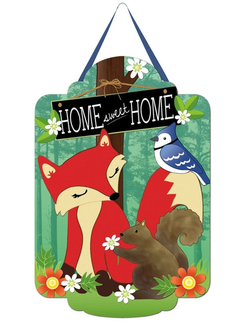 """Home Sweet Home Felt Door Decor - 18"""" x 24""""  - Evergreen Door Hanger"""
