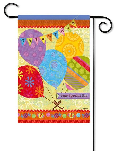 "Birthday Banners Decorative Garden Flag - 12.5"" x 18"" - Evergreen"