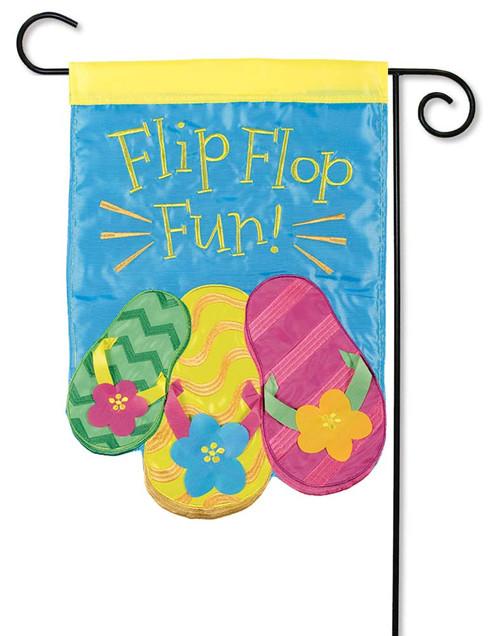Summer Flip Flops Applique Garden Flag