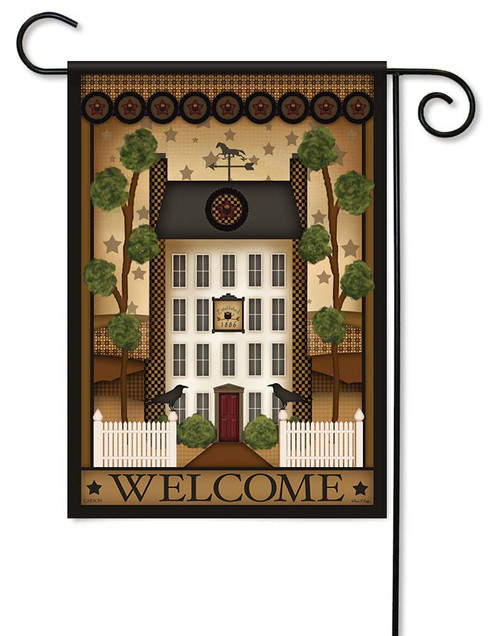 "White House Welcome Garden Flag - 12.5"" x 18"" - Flag Trends - 2 Sided Message"