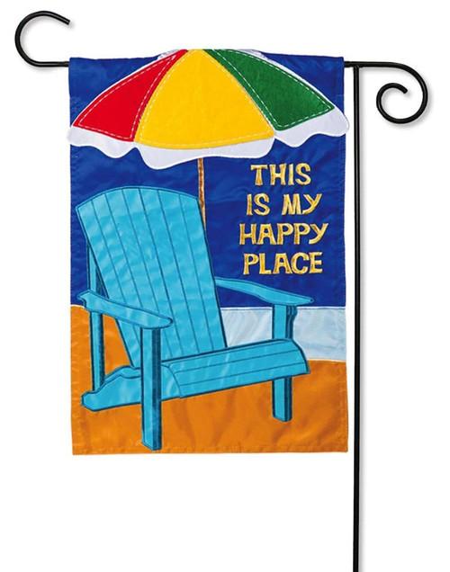 Summer Adirondack Applique Garden Flag