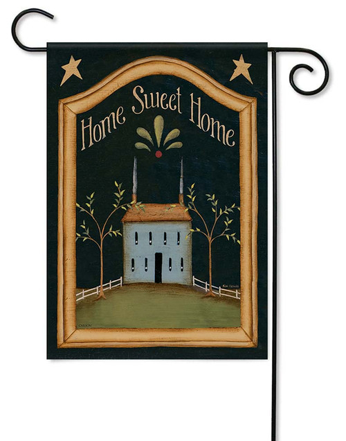 "Home Sweet Home Garden Flag - 12.5"" x 18"" - Flag Trends - 2 Sided Message"