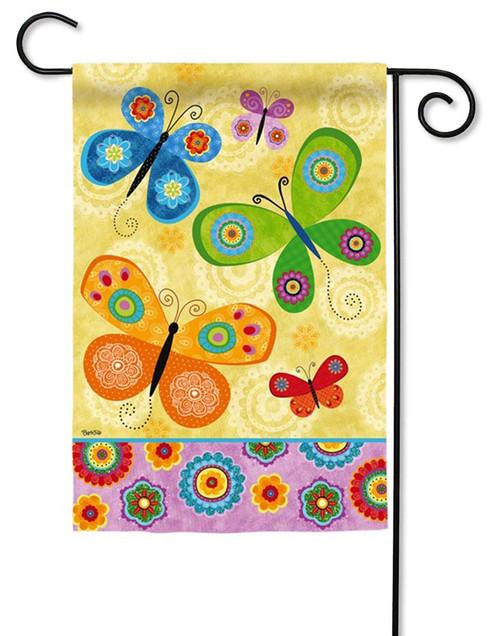 Flight of Fancy Butterflies Decorative Garden Flag