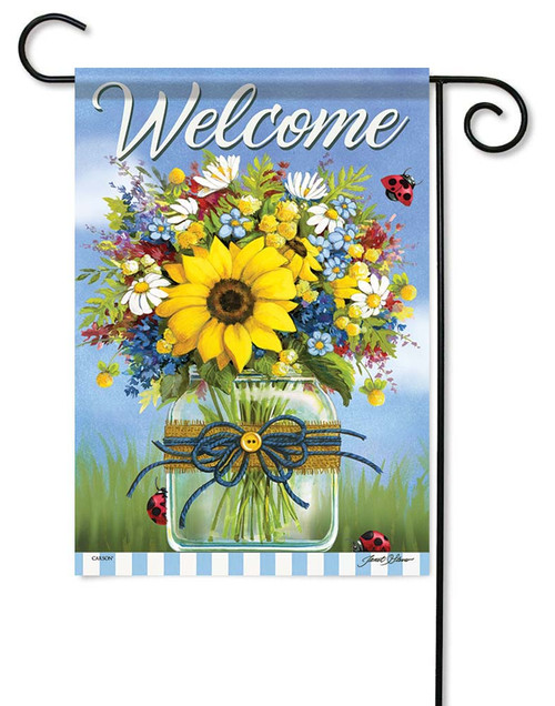 Summer In A Mason Jar Garden Flag