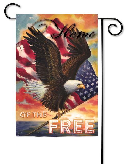 "Star Spangled Eagle Decorative Garden Flag - 12.5"" x 18"" - 2 Sided Message"