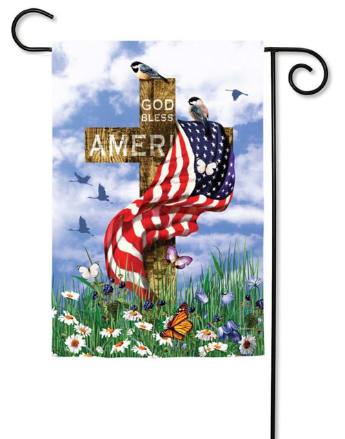 "The Patriots Decorative Garden Flag - 12.5"" x 18"" - 2 Sided Message - Evergreen"