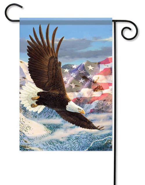 "Height Of Freedom Garden Flag - 12.5"" x 18"" - Flag Trends - 2 Sided Message"
