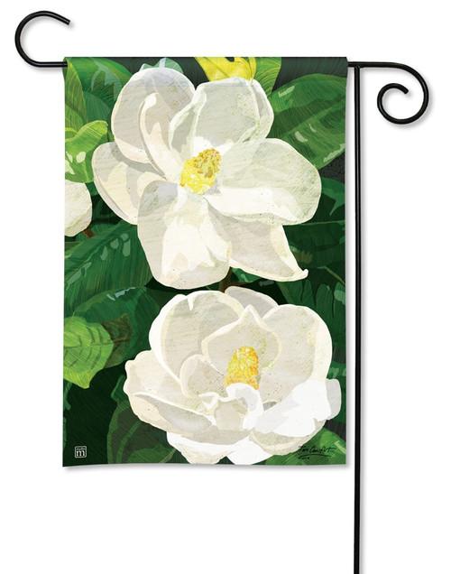 """Sweet Magnolias Summer Garden Flag - 12.5"""" x 18"""" - BreezeArt"""