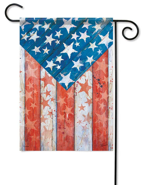 """Rustic Pride Garden Flag - 12.5"""" x 18"""" - Flag Trends - 2 Sided Message"""