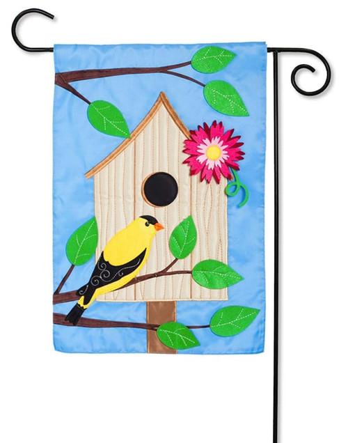 "Welcome Ya'll Birdhouse Applique Garden Flag - 12.5"" x 18"" - Evergreen"