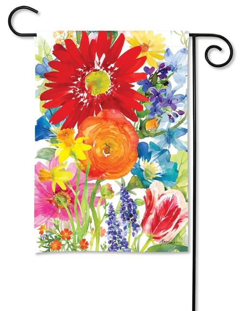 "Splash of Color Summer Garden Flag - 12.5"" x 18"" - BreezeArt"