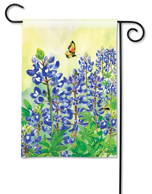 "Bluebonnet Dream Summer Garden Flag - 12.5"" x 18"" - BreezeArt"