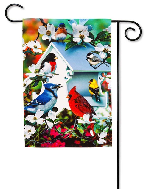 "Backyard Birds Decorative Garden Flag - 12.5"" x 18"" - Evergreen"