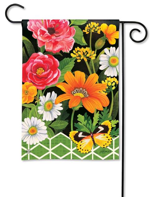 """Fancy Floral Summer Garden Flag - 12.5"""" x 18"""" - BreezeArt"""