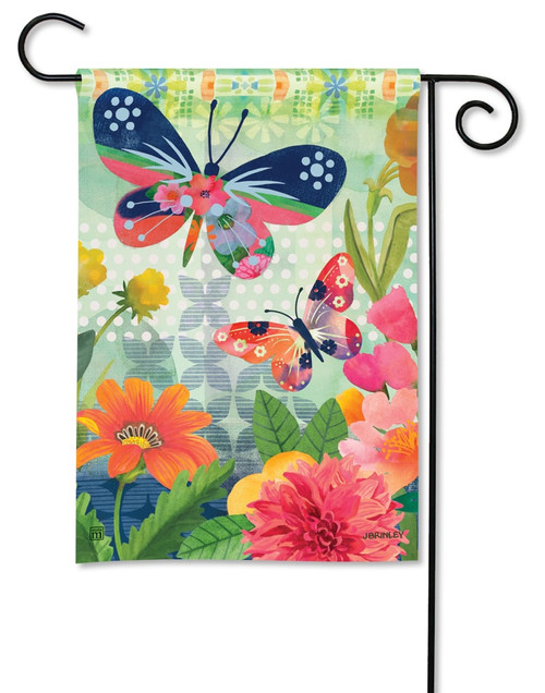 "Butterflies in Flight Summer Garden Flag - 12.5"" x 18"" - BreezeArt"